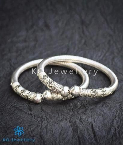 The Mohin Flexible Silver Bracelet Bangle Puresilver Wedding Bridal Indian Ethnic Kojewellery Bling Festive