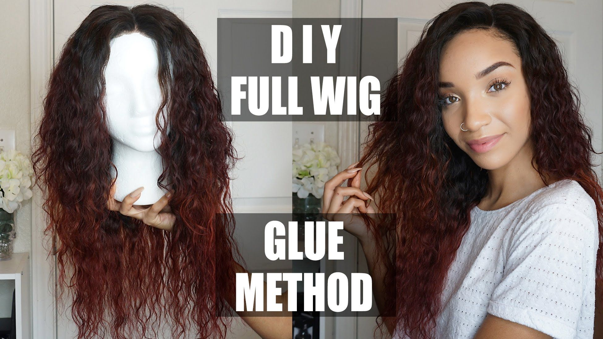 Full Hair Weave Styles: Easy DIY Full Wig With Lace Closure (Glue Method