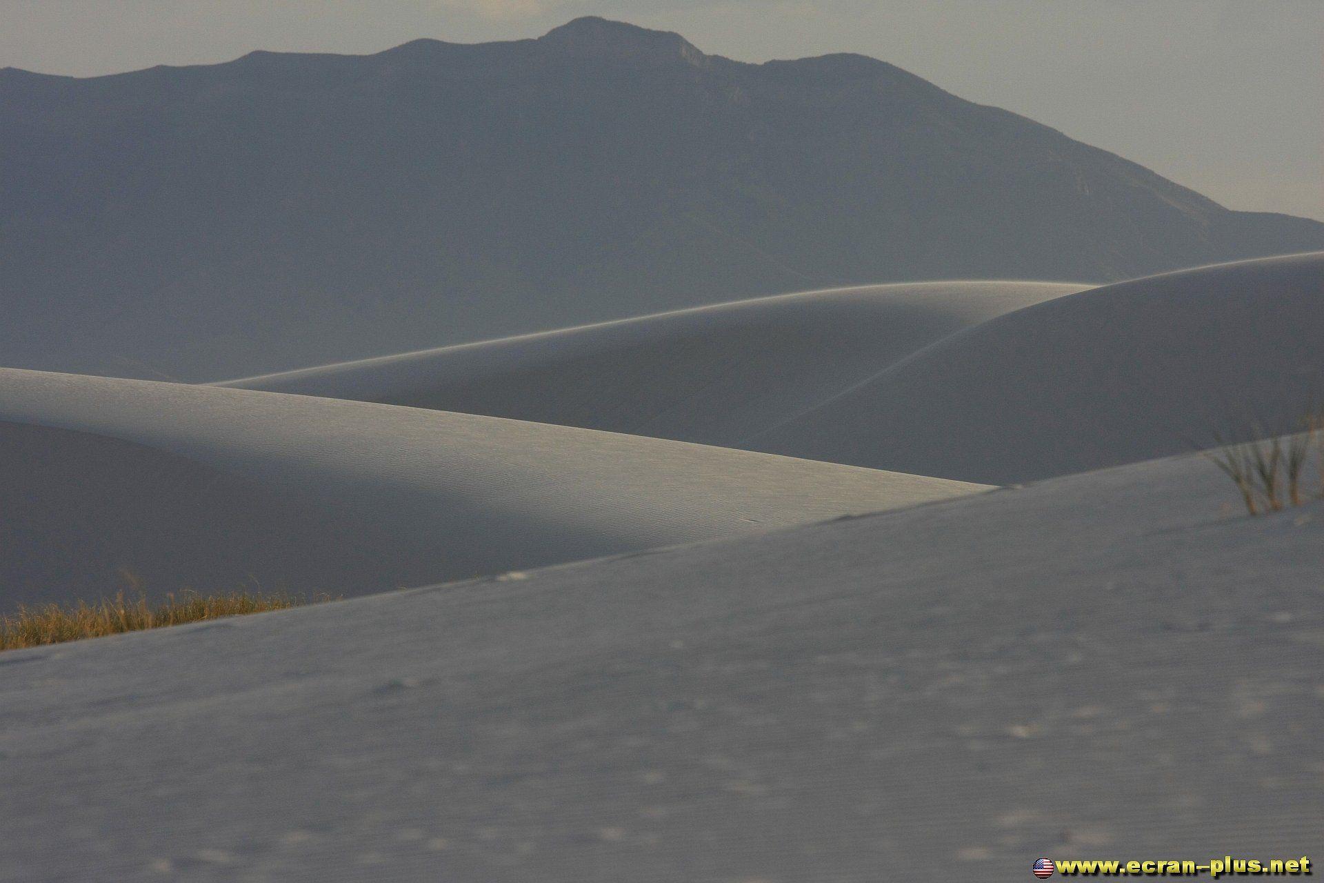 Les dunes de gypse du desert de White Sands et les San Andres Mountains dans le fond - Nouveau Mexique - Etats Unis