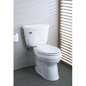 Kohler K 3609 0 Cimarron Comfort Height Elongated 1 28 Gpf Toilet With Class Five Technology And Left Hand Trip Lever Kohler Toilet Bidet Toilet Combo Toilet