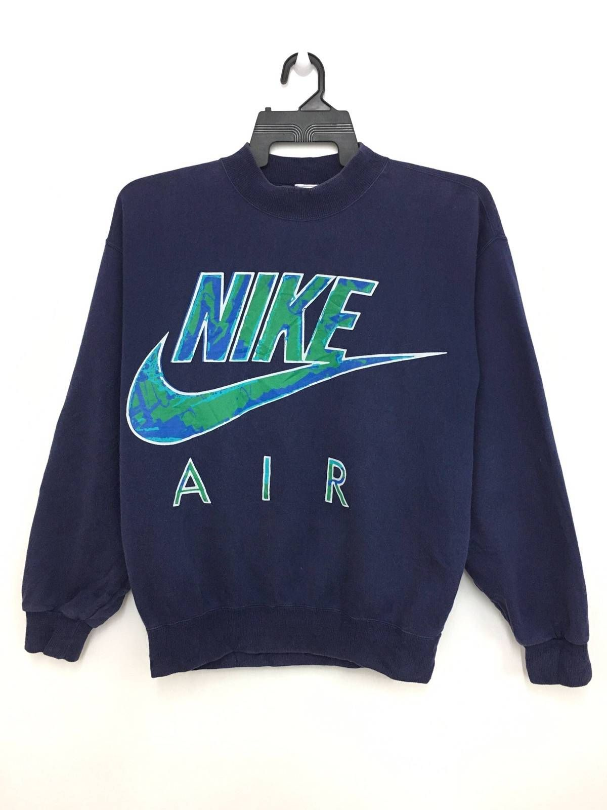 Nike Vintage 90 s NIKE AIR Sweatshirt Jumper Big Logo Spellout Grey Tag  Nice Design Large Size On Tag Size m - Sweatshirts   Hoodies for Sale -  Grailed e17a08275514b