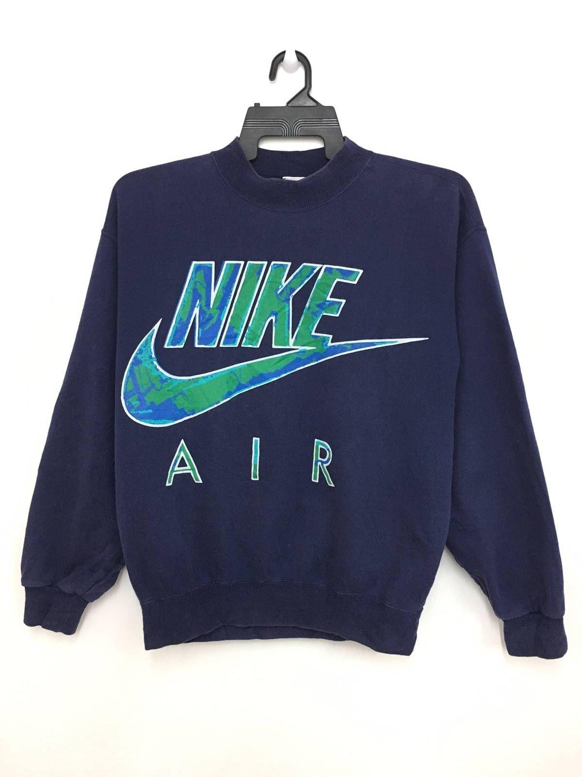 14b616af4 Nike Vintage 90 s NIKE AIR Sweatshirt Jumper Big Logo Spellout Grey Tag  Nice Design Large Size On Tag Size m - Sweatshirts   Hoodies for Sale -  Grailed