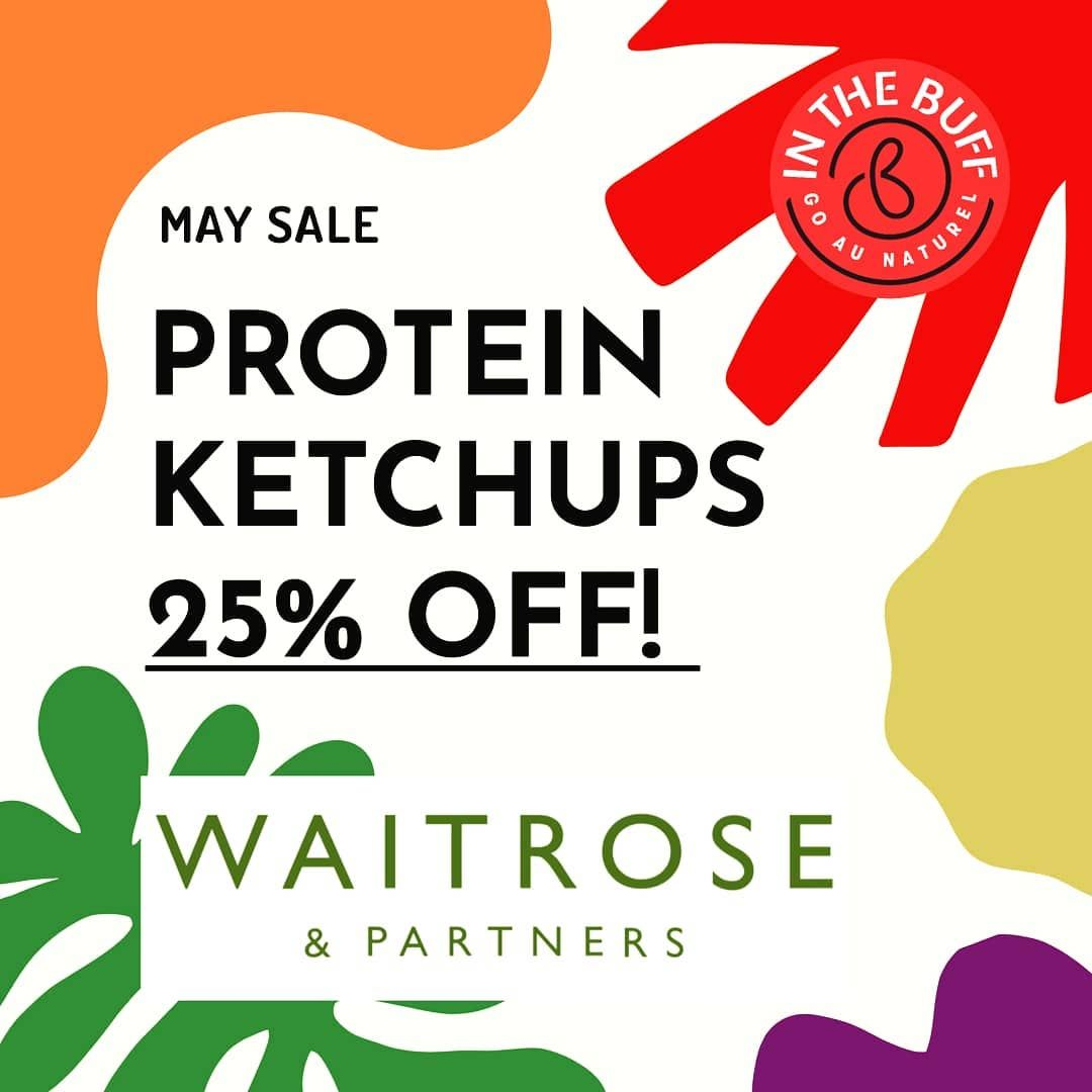 A 'SAUCE' OF INSPIRATION, STILL ON SALE @WAITROSEANDPARTNERS 😎⠀ ⠀ Our groundbreaking super-sauces are still on sale til the end of May at the select #Waitrose stores shown. Get inspired for some tasty new meals! ⠀ ⠀ #inthebuff #ProteinKetchup #PlantBased #Vegan #Glutenfree #Protein #Healthy #food #Waitroseandpartners #ocado #wholefoods
