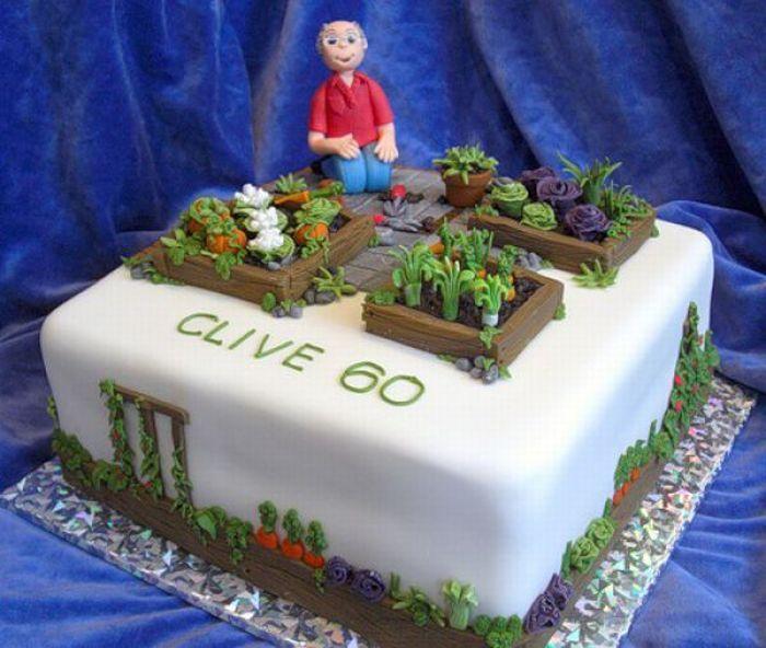 Gardening Birthday Cake Pinteres