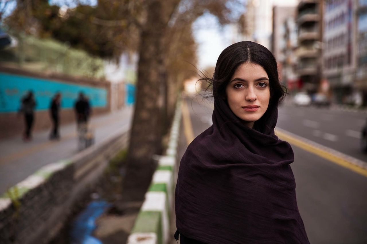 she's mahsa, on the streets of tehran, iran, a few weeks ago. she