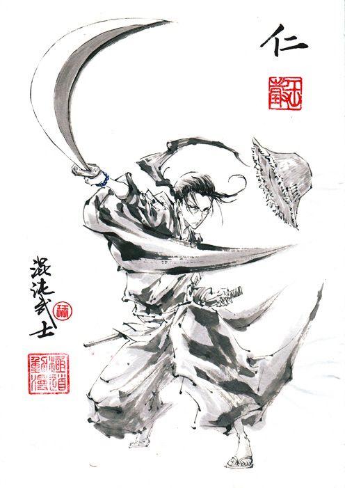 Samurai Champloo Jin Samurai Champloo Samurai Drawing