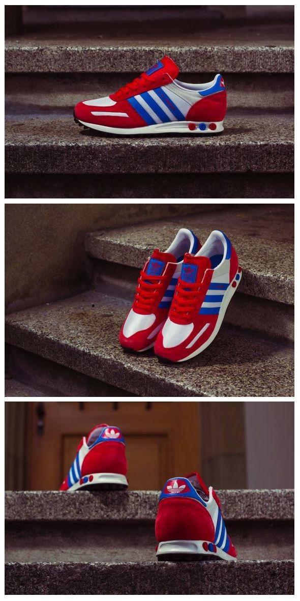 adidas Originals L.A. Trainer: Red