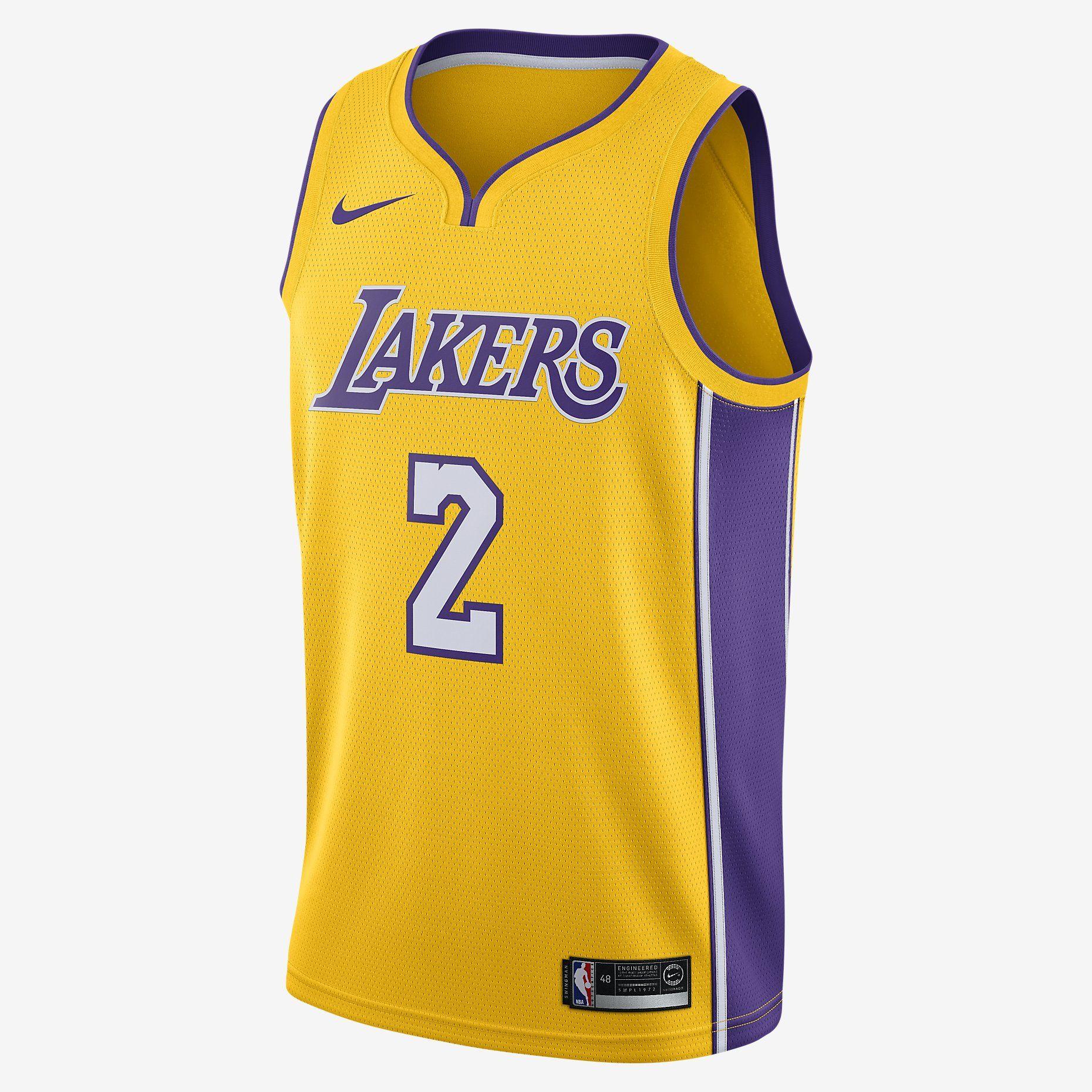 751cbcbfa4a45 LONZO BALL ICON EDITION SWINGMAN JERSEY (LOS ANGELES LAKERS) | Nike ...