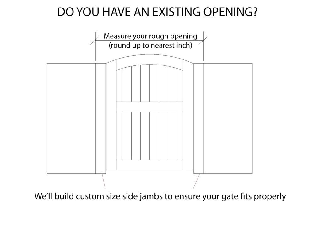 Portland Custom Size Gate Prehung With Hardware Custom Gates Tongue And Groove Panelling Gate