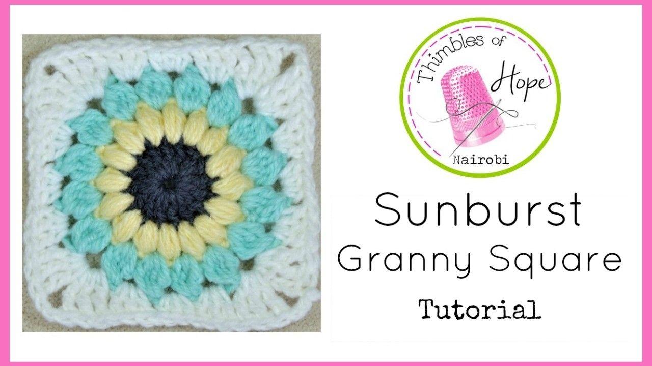 CROCHET Easy Sunburst Granny Square Tutorial