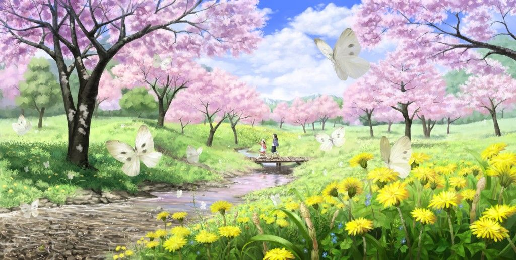 Animated Spring Scenery Widescreen Wallpaper HD Seasons