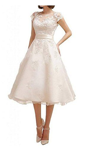Bettertime Tea Length Wedding Dresses Evening Party Dress Bride Prom ...