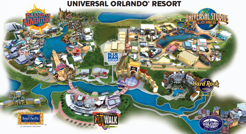 Universal Orlando Resort Map Vacations In 2019 Universal