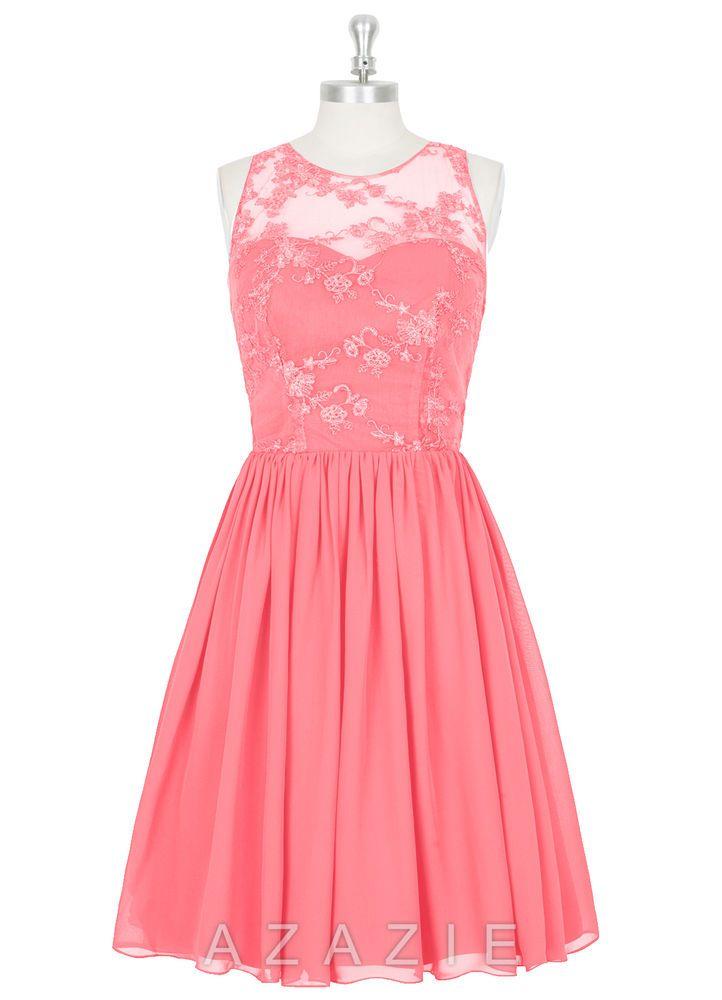 $85! Azazie Victoria Bridesmaid Dress in Watermelon (Coral) Size 2 ...