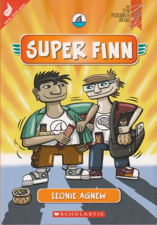 """New Zealand Book Awards Junior Fiction Winner 2012. By Leonie Agnew. Finn's school project is on """"How to be a superhero."""" Can an ordinary boy turn into a superhero? Finn and his friend Brain make a list of things needed to be a superhero, including superpowers and saving someone's life. Sometimes with the best of intentions things don't always work out as planned. Finn finishes his project and learns a lot about himself and others."""