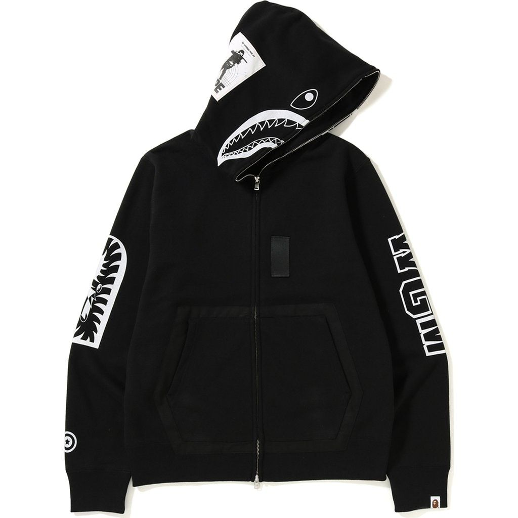 I Just Listed An Ask For The Bape Military Shark Full Zip Hoodie Black On Stockx Black Bape Hoodie Bape Hoodie Black Hoodie [ 1024 x 1024 Pixel ]