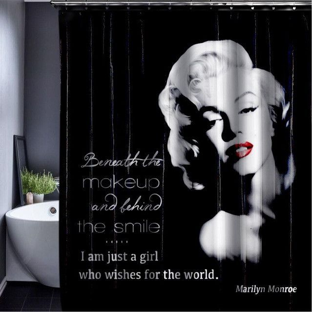 Marilyn Monroe Shower Curtain Customized Shower Curtain Waterproof Bathroom Fabric 165x180cm Shower Curtain For Bathroom