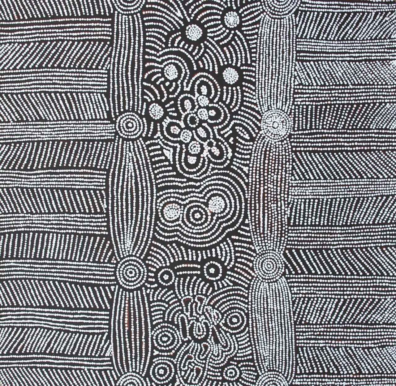 In black and white aboriginal art at japingka gallery