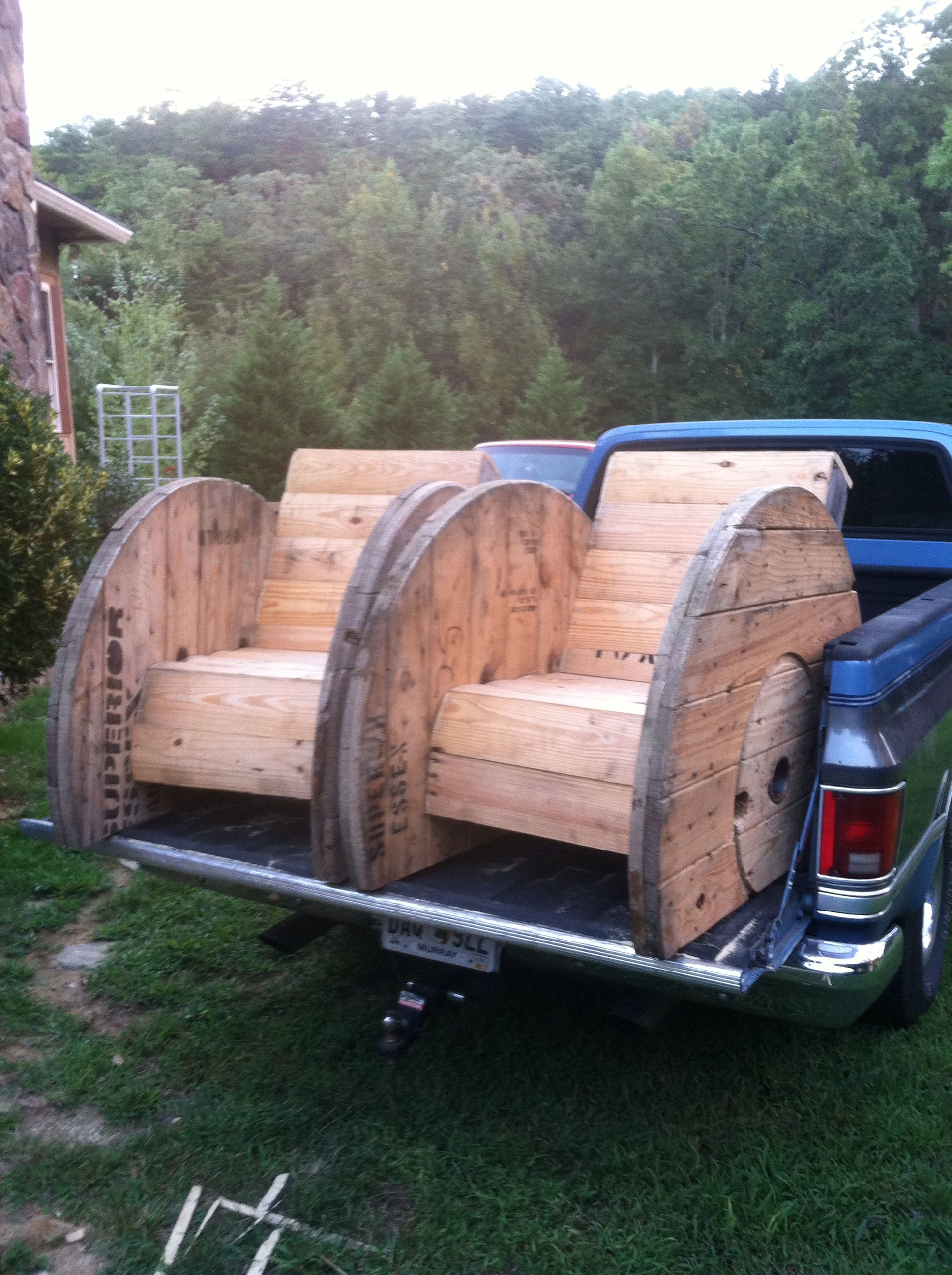 2 new spool chairs woodworking Pinterest
