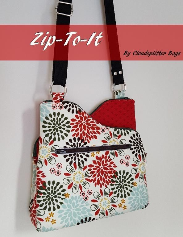 (9) Name: 'Sewing : Zip-To-It: Zippered Crossbody