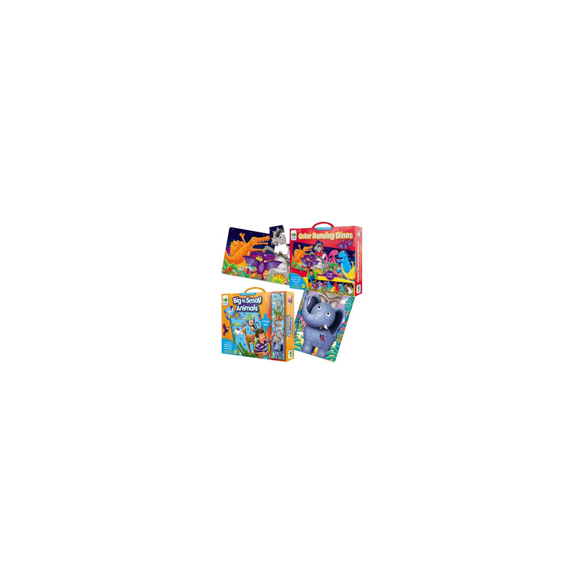 Long & Tall Puzzle Set - Big to Small Animals and Dancing ...