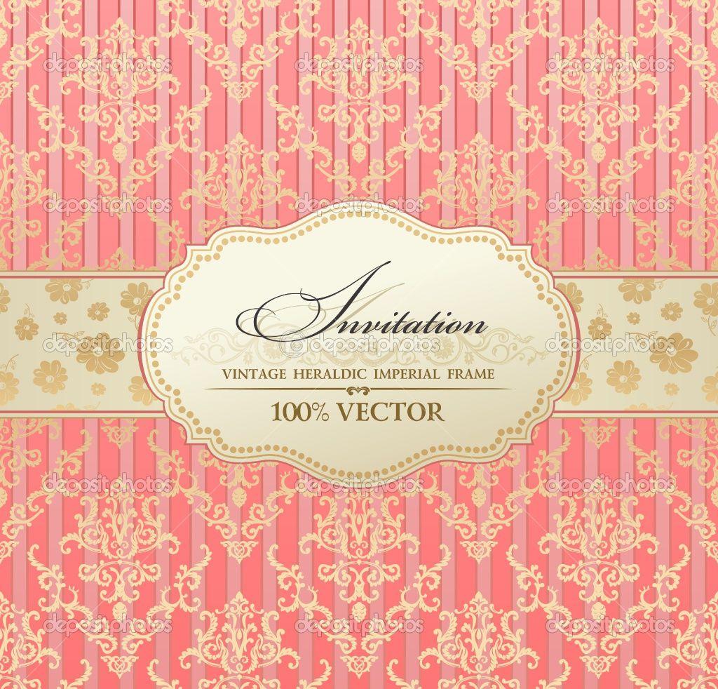 Depositphotos5789145 invitation vintage label vector frame pink invitation vintage label vector frame pink vector image on vectorstock stopboris Choice Image