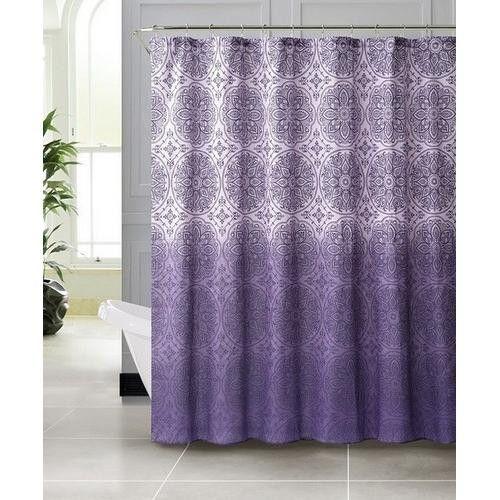 Vienna Purple Embossed Microfiber Shower Curtain 72 X 72
