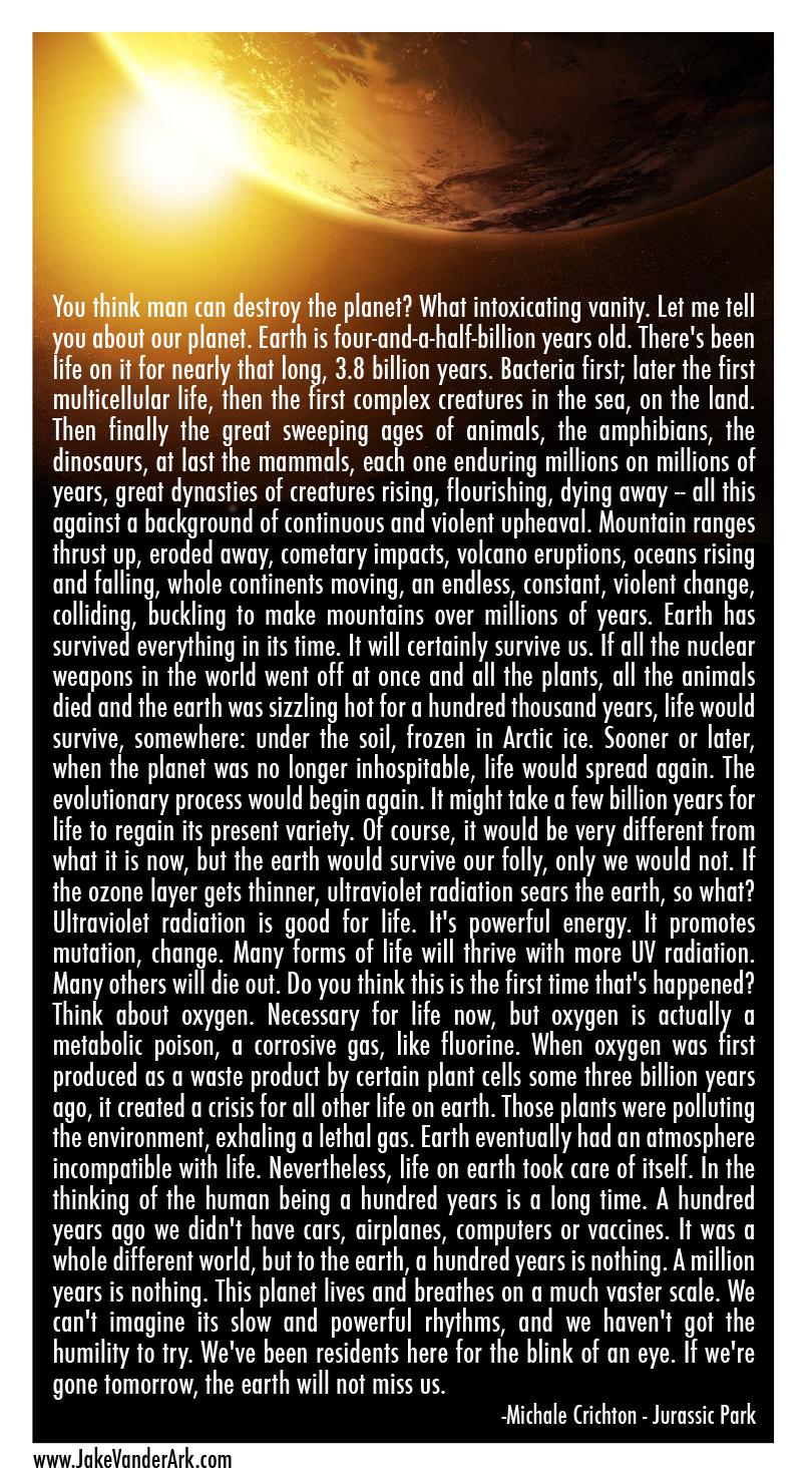 Quote: Michael Crichton - Jurassic Park