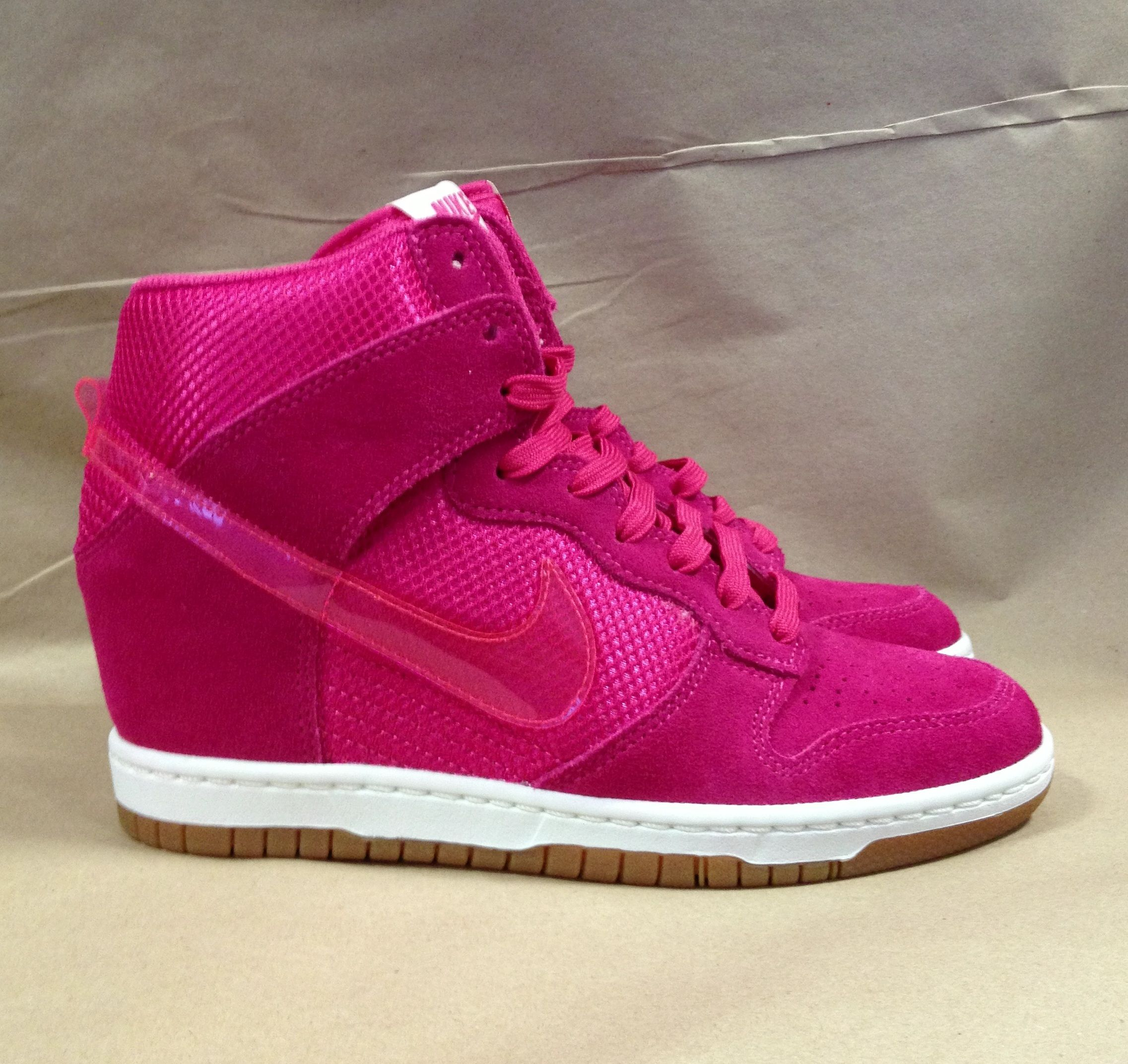 ff296a3d6b71 Remember that time when you really wanted a pair of bright pink Nike dunks  with a hidden wedge  DONE.  schuh  nikedunk  nike