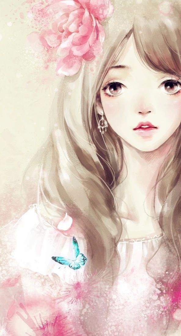 綺麗な薔薇 憂鬱女の子 ピンク系 悲しいタイプ オシャレ格好いい