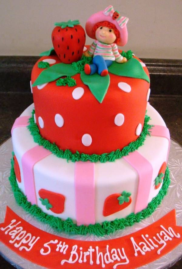 Marvelous Strawberry Shortcake Birthday Cake Touch Of Cake Our Cakes Personalised Birthday Cards Cominlily Jamesorg