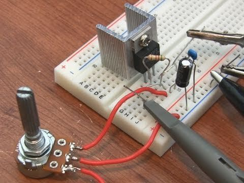 A tutorial on the LM317 voltage regulator. Shows you how