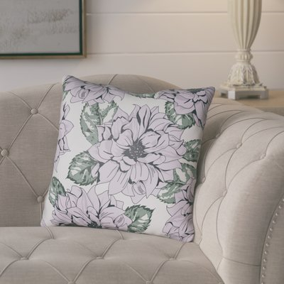 """August Grove Lyda Square Throw Pillow Size: 22"""" H x 22"""" W x 5"""" D, Color: Lilac"""