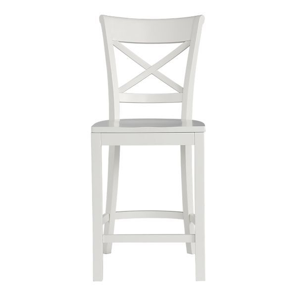 Kitchen Barstool Cross Back White Counter Stools White Bar
