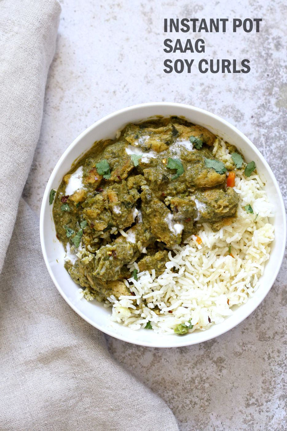 Instant Pot Vegan Chicken Saag Soy Curls In Spinach Sauce Vegan Richa Recipe Soy Curls Vegan Instant Pot Recipes Vegan Richa