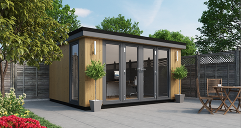 contemporary panoramic garden rooms, garden offices ...