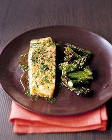 Roasted salmon w lime cilantro viniagrette