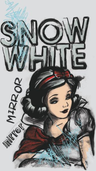 Snow White! I want this on my bedroom wall!