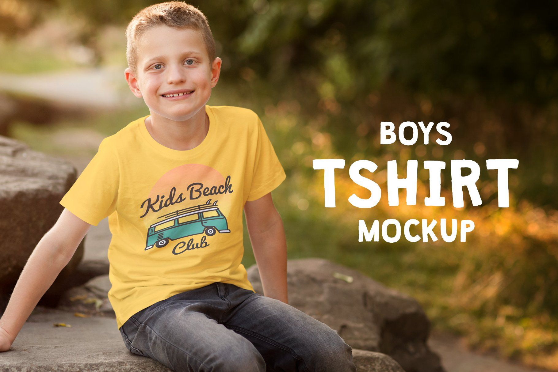 Download Boys T Shirt Mock Up Psd Mockup Template Design Mockup Free Free Psd Design