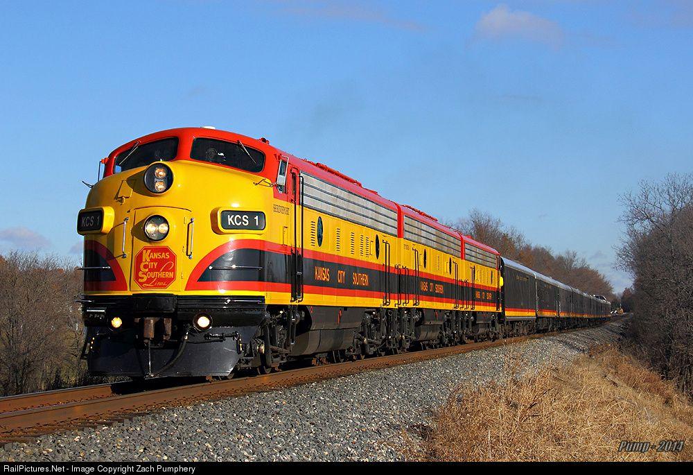 RailPictures.Net Photo: KCS 1 Kansas City Southern Railway EMD FP9 at Cleveland, Missouri by Zach Pumphery