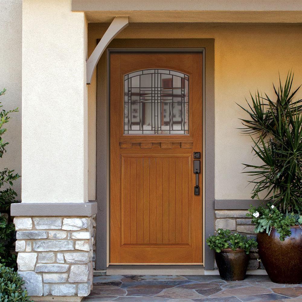This Stunning Custom Amberwooddoor Is 1 4 Sawn White Oak With 2 Beveled Glass Sidelights And An Exq Craftsman Front Doors Entry Doors Craftsman Exterior Door