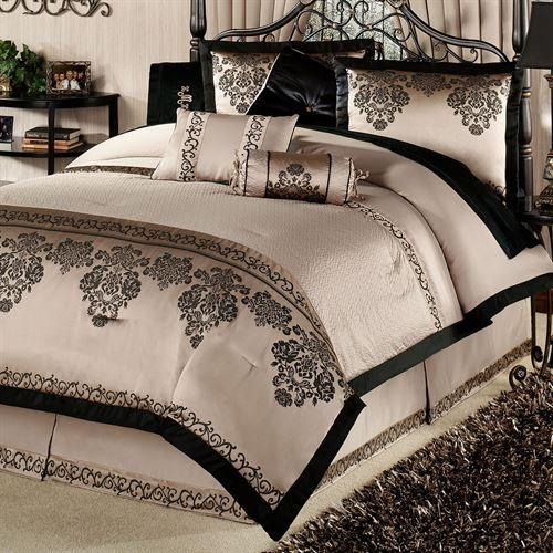 Camelot Ii Comforter Set Taupe Luxury Bedding Master Bedroom