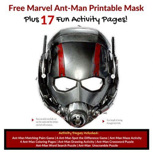 Free Ant Man Mask 17 Antman Printable Activities Antmanevent Ant Man Mask Ant Man Printable Masks
