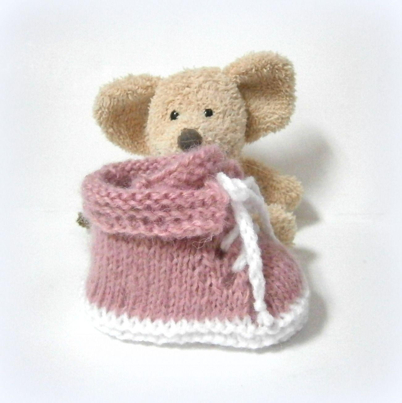 e17ff411310ab Chaussons pour bébés sur Tricotmuse alittlemarket.com