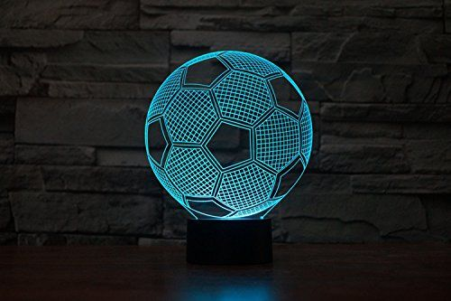 3d Glow Led Night Light Sport Element 7 Colors Optical Illusion Lamp Touch Sensor Perfect For Home Party Festival Decor Great Gift Novelty Lighting Led Night Light Nightlights