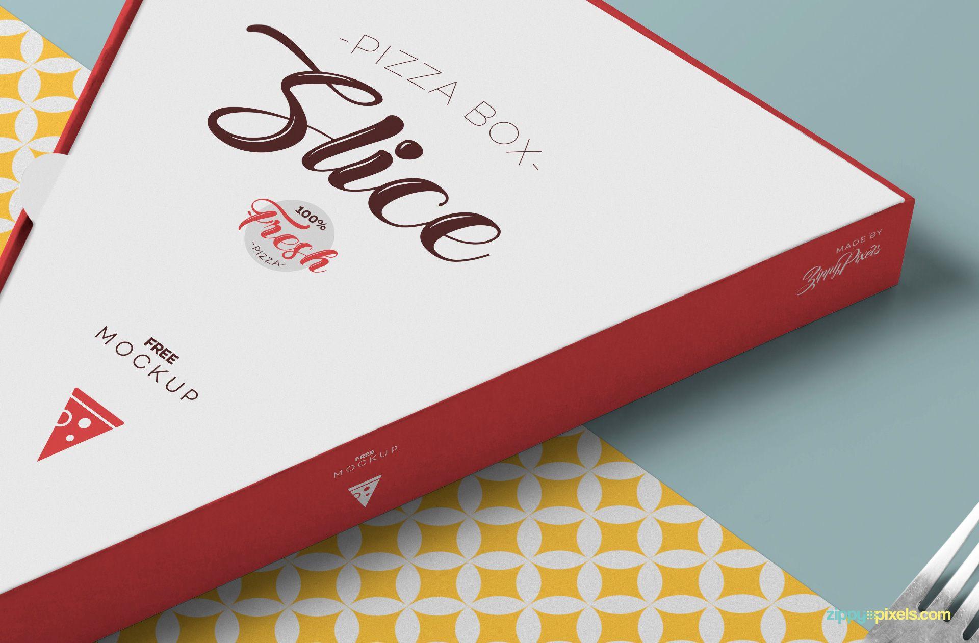 Download Free Pizza Slice Box Mockup Zippypixels Packaging Mockup Mockup Pizza Slice