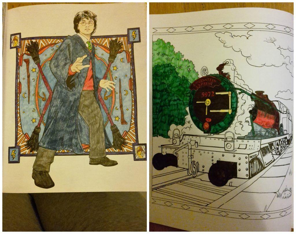 Harry Potter Magische Plekken En Personages Kleurboek Recensie Kleurboek Harry Potter Kleuren