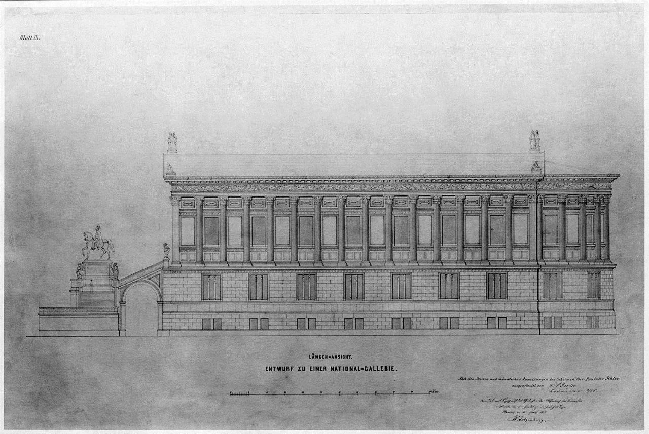 Side elevation of the Alte Nationalgalerie, Berlin