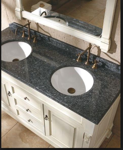 Blackpearl Granite W White Countertop In 2020 Bathroom Furniture Kitchen Cabinets In Bathroom Wooden Bathroom