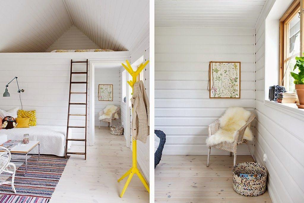 Casa amarela na praia: Três casas na Suécia